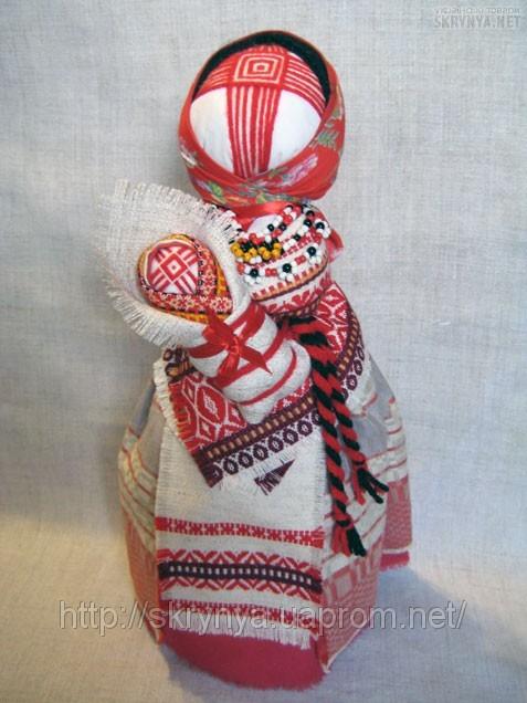 Traditional motanka doll is